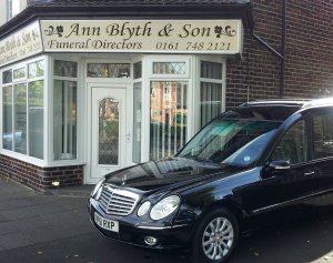 Ann Blyth and son funeral directors
